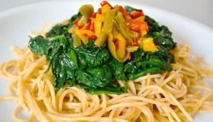 Receta de pasta integral con espinacas - recetas de pasta - recetas realfooding o real food
