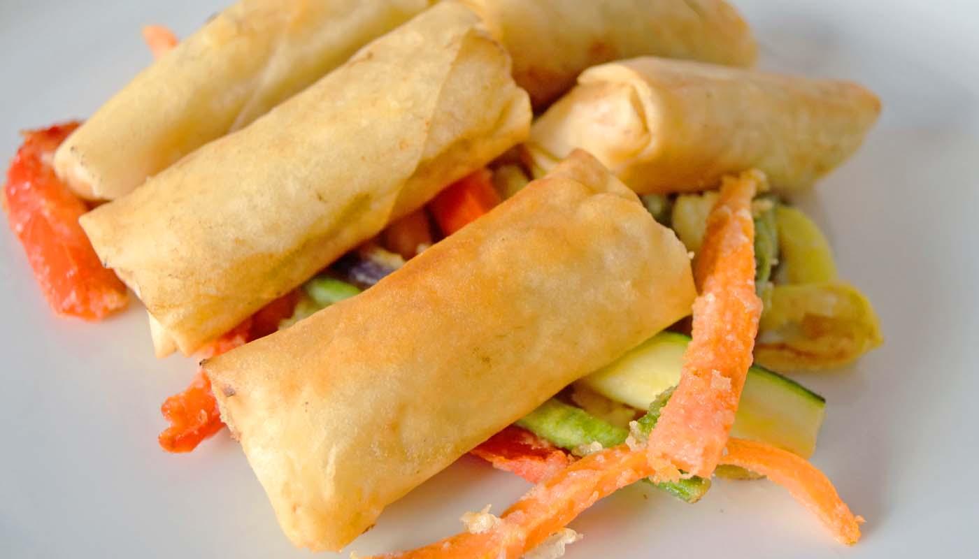Receta de rollitos de primavera - recetas de masas rellenas - recetas del mundo - recetas realfooding o real food