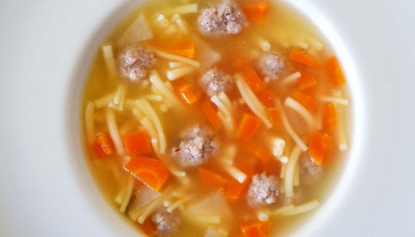 Receta de sopa con albóndigas caseras - recetas de sopas - recetas realfooding o real food