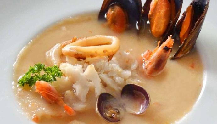 Receta de sopa cremosa de pescado - recetas de sopas de pescado y marisco - recetas realfooding o real food