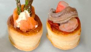 Receta de volovanes fríos variados - recetas de hojaldres - recetas de aperitivos - recetas realfooding o real food