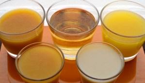 Ventajas y desventajas de beber zumos - propiedades y valor nutritivo o nutricional del zumo recién exprimido - diferencias entre zumo envasado y néctar de frutas