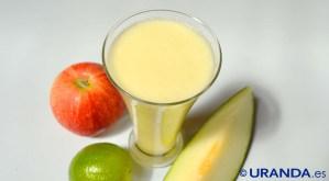 Receta de zumo de melón, manzana y lima - recetas de zumos, batidos y smoothies - recetas vegetarianas y veganas