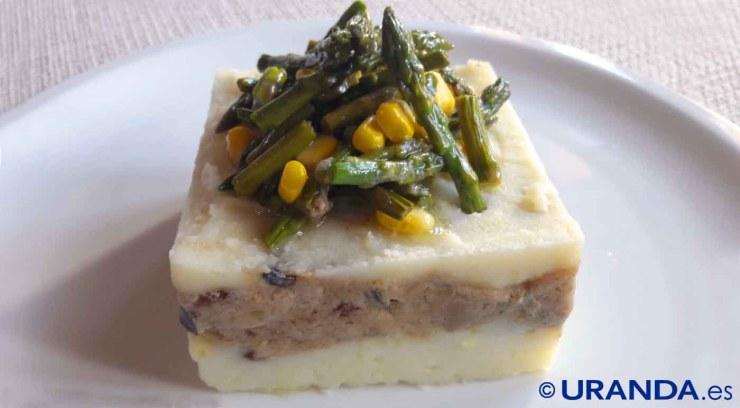 Receta vegana de pastel de patatas, setas y berenjena - recetas de patatas - recetas con setas - recetas vegetarianas y veganas