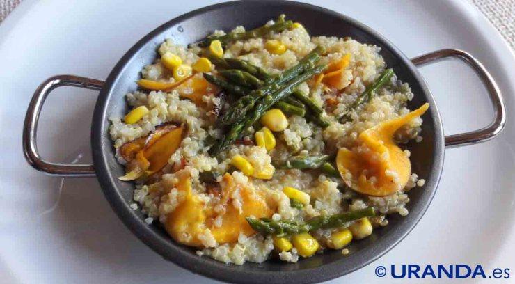 Receta de risotto de quinoa con calabaza y espárragos - recetas de quinua o quinoa - recetas vegetarianas y veganas
