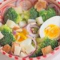 salade de brocolis oeufs mollets