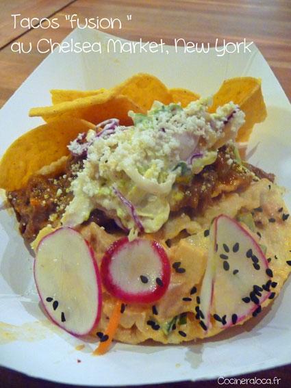 Tacos fusion chelsea market new york ©cocineraloca.fr