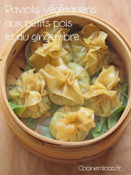 Raviolis végétariens aux petits pois et gingembre ©cocineraloca.fr