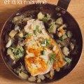 Espadon aux aubergines aux pignons et à la menthe ©cocineraloca.fr