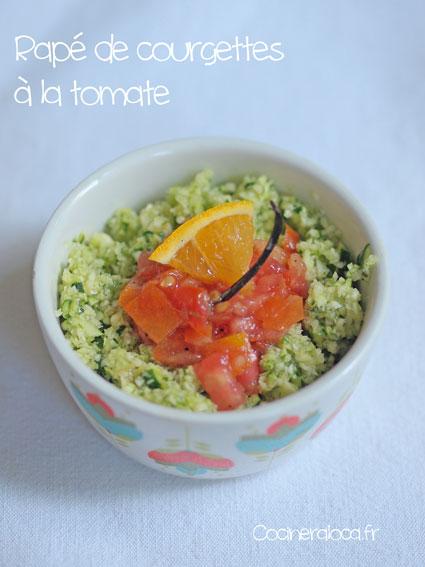 Râpé de courgettes à la tomate ©cocineraloca.fr