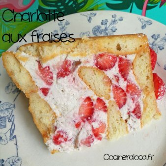 Tranche de charlotte aux fraises