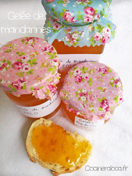 Pots de gelée de mandarines