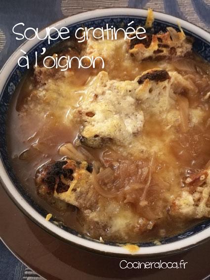 Soupe gratinée à l'oignon et au comté