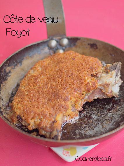 Côte de veau Foyot après cuisson