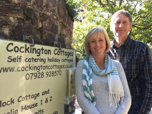 Paula & Leon, owners of Cockington Cottages