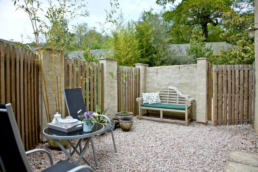 Magnolia Cottage courtyard