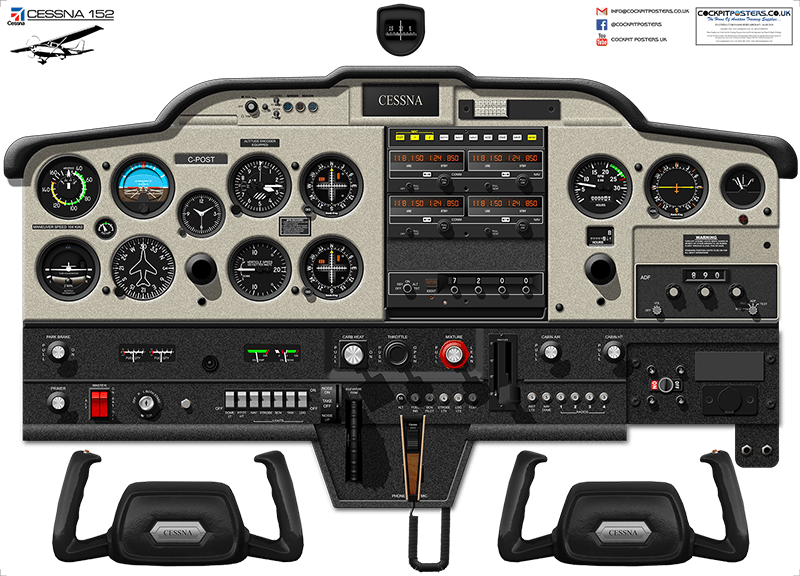 cessna 152 cockpit poster 100 accurate 3d artwork free shipping