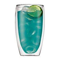 Bodum-Pavina-doppelwandiges-Thermoglas-mit-blauem-Getraenk
