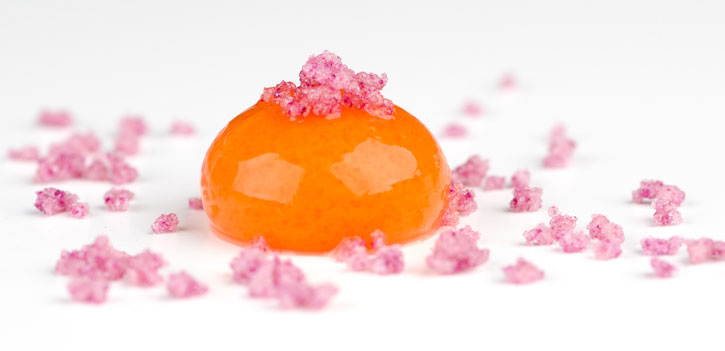 Carrot,Orange e Mango Spheres with Rose Crystals (3/4)