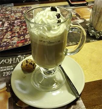 """Напитки с кофе (горячие) Горячий Коктейль """"Чиколачина"""""""