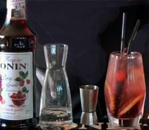 Morello Cherry Gin & Tonic. Коктейли с джином