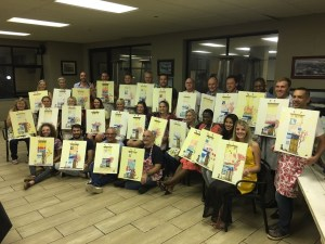 Group Corporate team building painting session