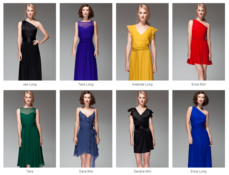 Joanna August  bridesmaids dresses