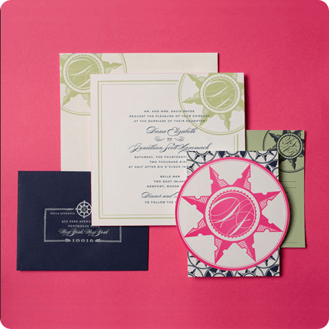 compass wedding invitations by cheree berry