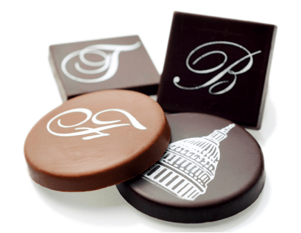 personalized chocolate medallions by edward marc chocolatierr