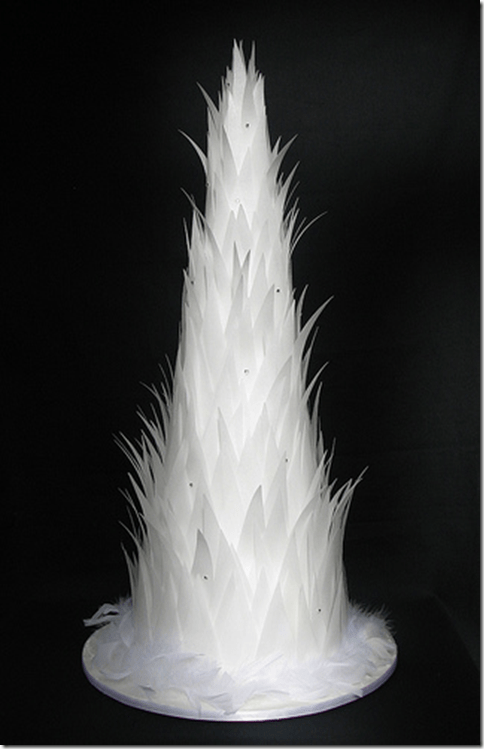 white angel feathers wings wedding cake