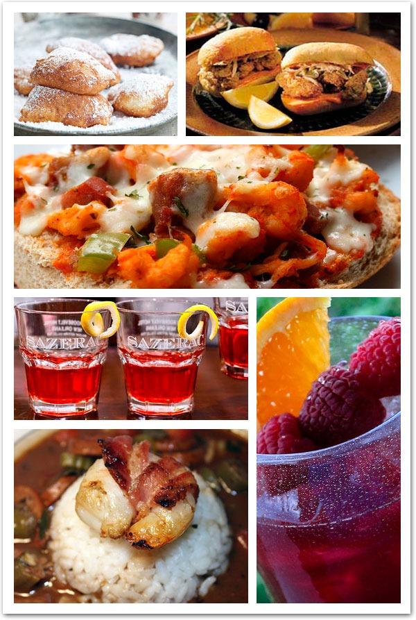 New Orleans wedding ideas food drink sezerac, st charles, gumbo, crawfish po boy inspiration ideas
