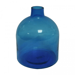 Blue jug vase for wedding reception centerpiece
