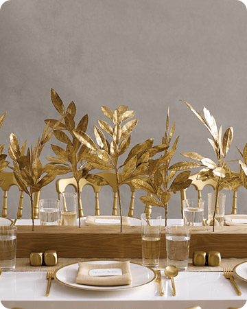 Gilded Branch and Leaf centerpiece;