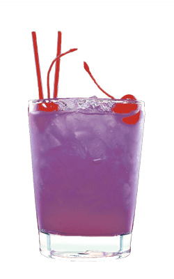 purple signature drink cocktail for wedding