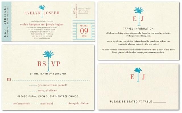 Destination Wedding Invitations from Wedding Paper Divas