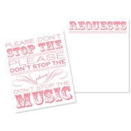 Music Requests on RSVP card