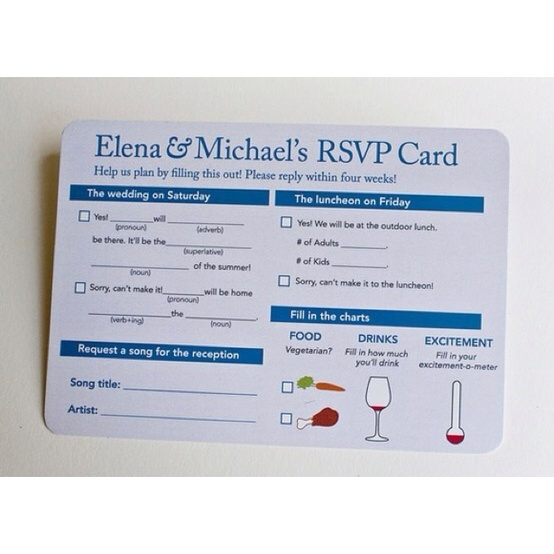 Interactive RSVP Card