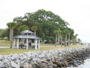 Small Gazebo in Neptune Park St. Simons Island