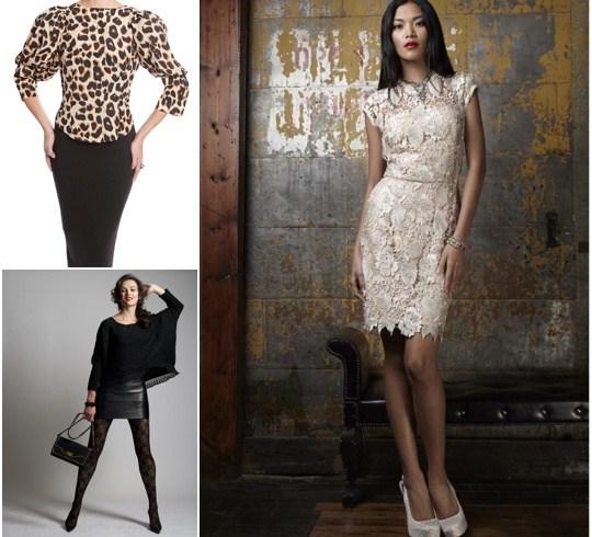 Lace dress leopard dress