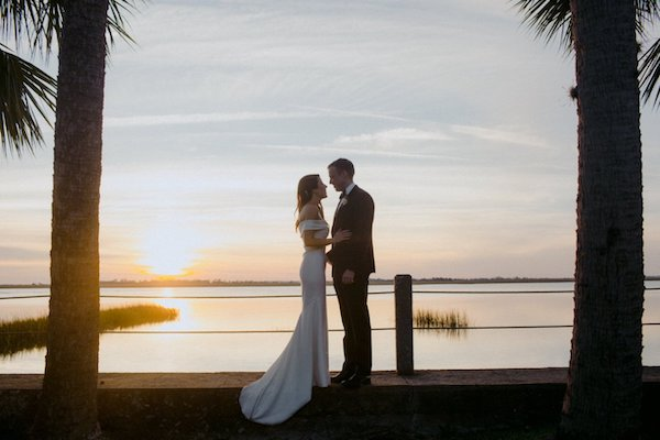 Sunset wedding photos at Villa Marianna