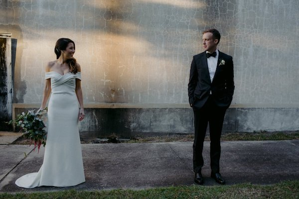bride and groom taking wedding portraits before their Jekyll Island wedding