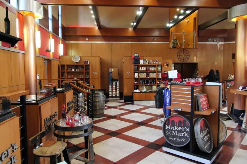 Maker's Mark distillery gift shop