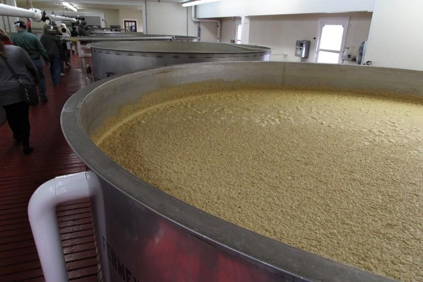 Fermentation tanks at Maker's Mark