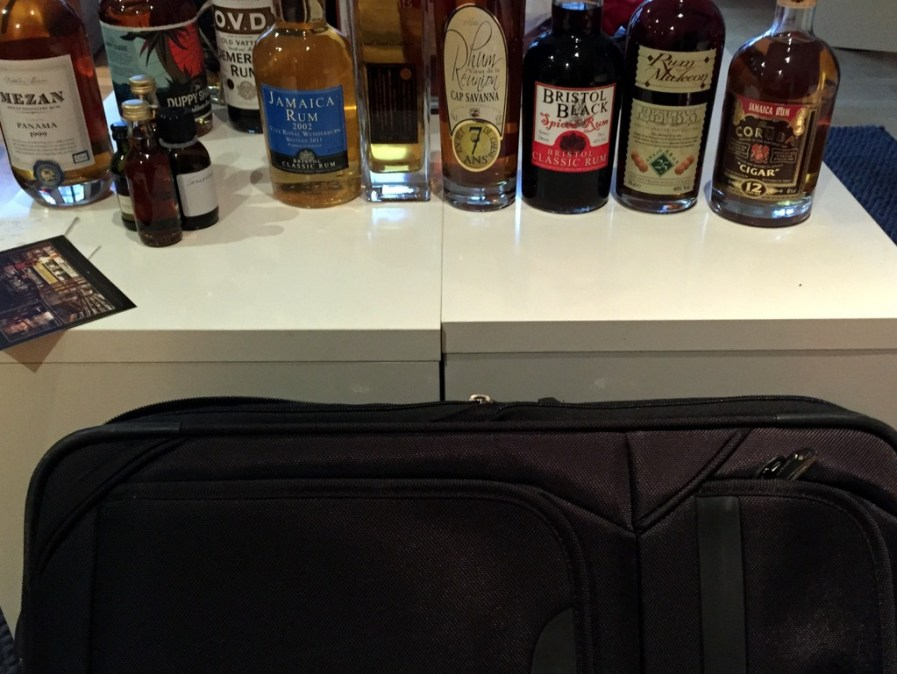 Getting ready to return home with lots of bottles, London