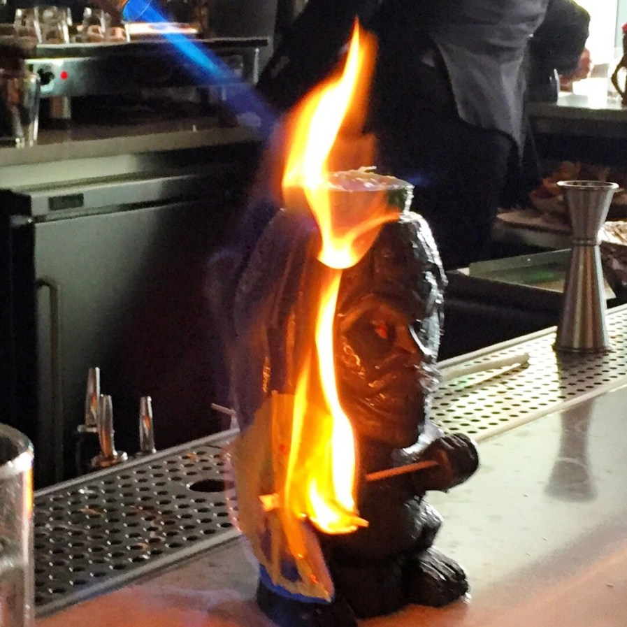 Tiki Professionals at work! Maybe don't try at home
