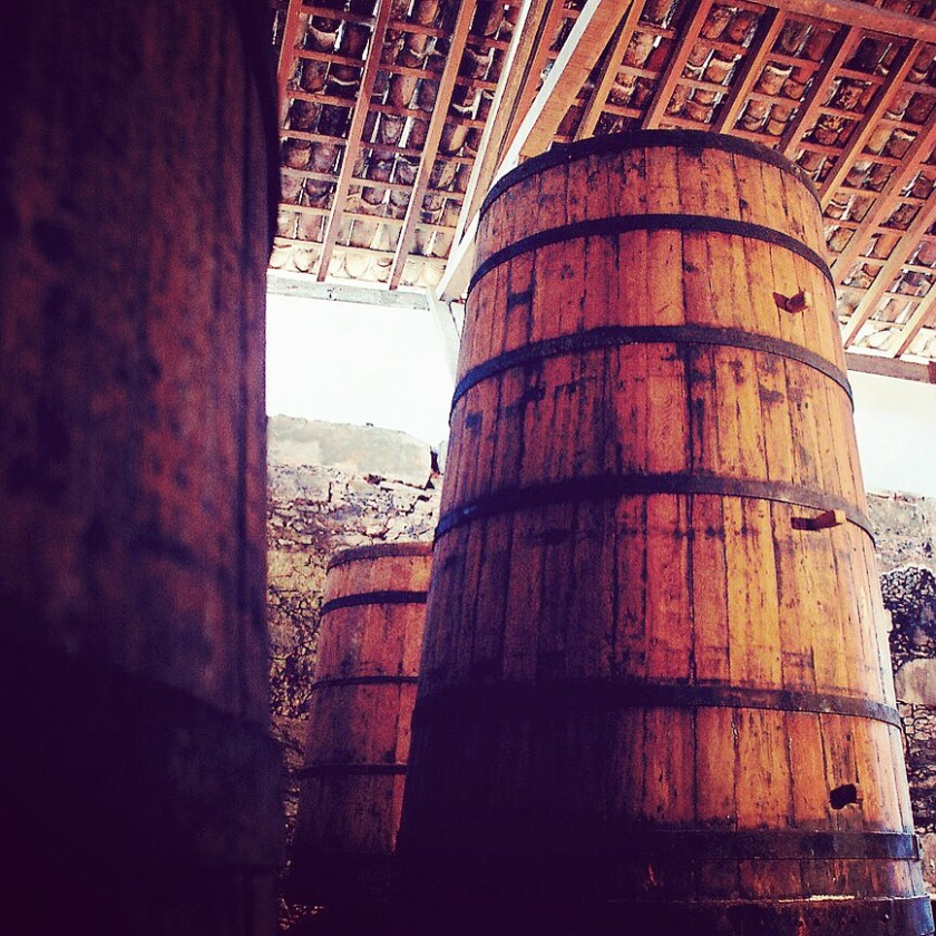 Amburana cask at the distillery