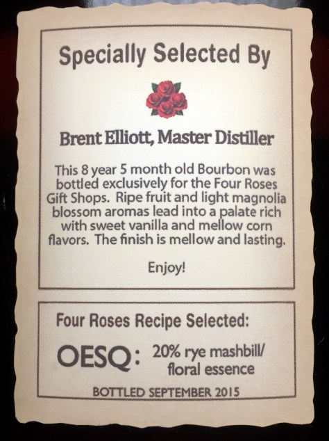 Four Roses OESQ bottle