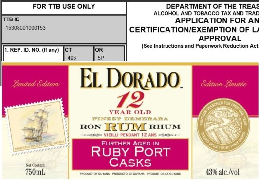 Stalking the TTB:  Upcoming U.S. rum releases from El Dorado, Rhum JM, Skotlander and more – Nov-Dec 2015