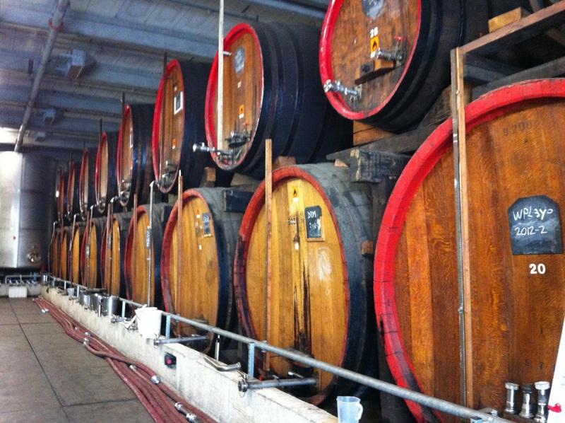Barrels at E&A Scheer warehouse.