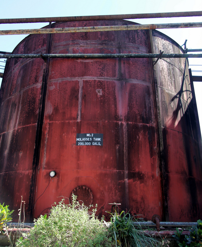 Molasses tank at Long Pond